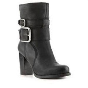 Nine West Chana Buckle Black Bootie Size 5.5